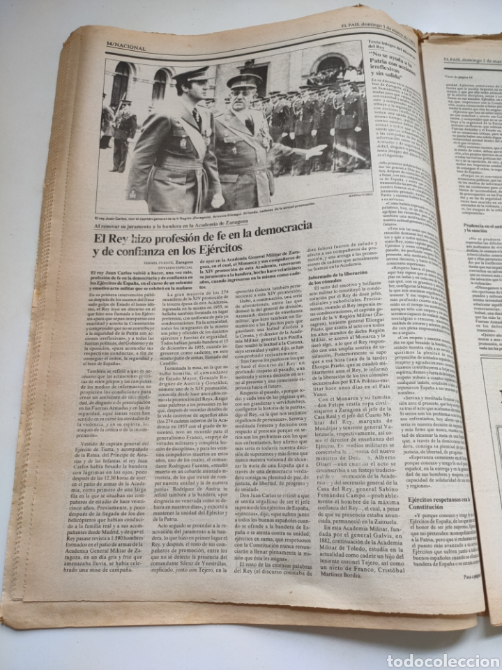 Coleccionismo de Periódico El País: Periódico El País 1 de marzo de 1981. - Foto 5 - 270228203