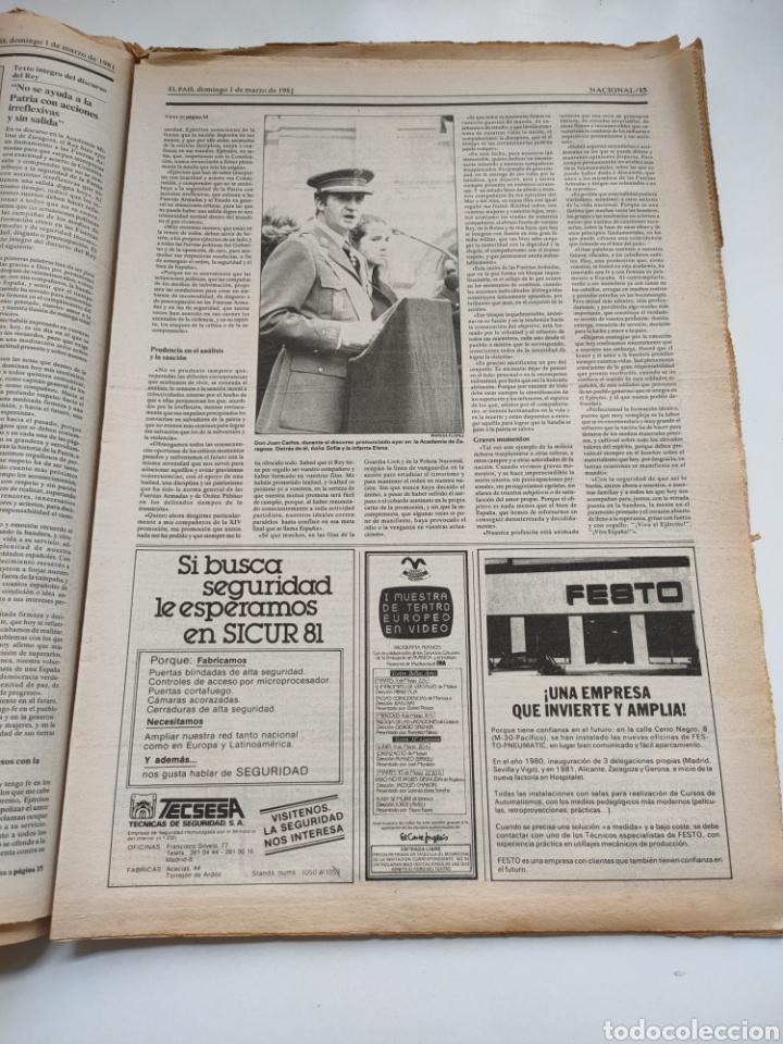 Coleccionismo de Periódico El País: Periódico El País 1 de marzo de 1981. - Foto 6 - 270228203
