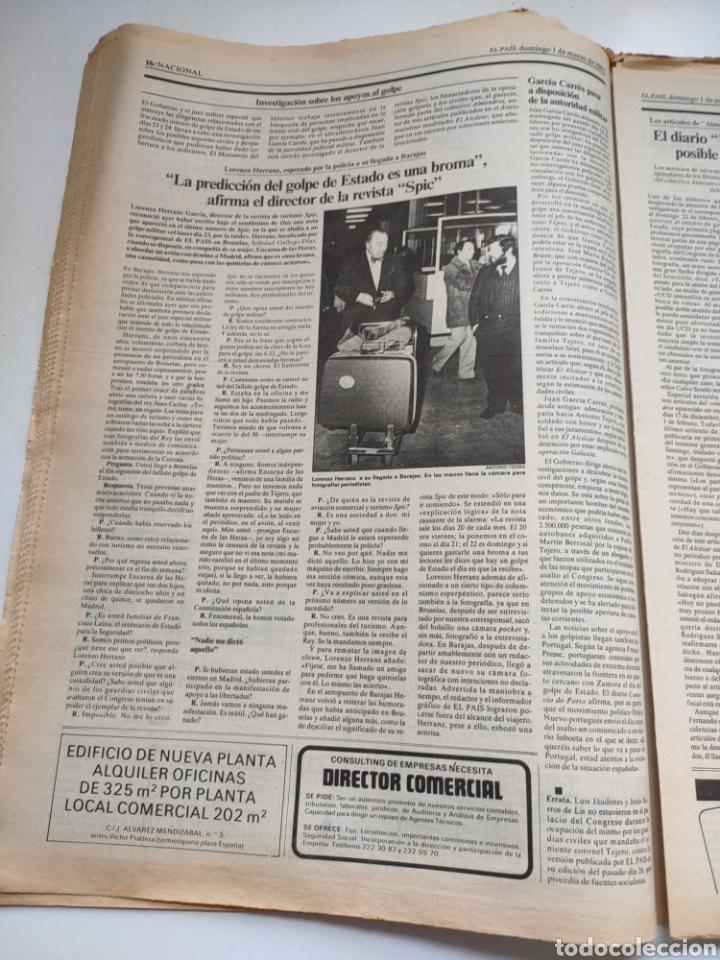 Coleccionismo de Periódico El País: Periódico El País 1 de marzo de 1981. - Foto 7 - 270228203