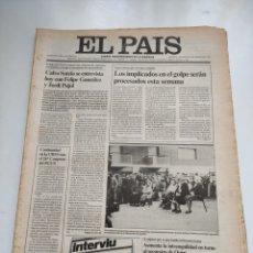 Coleccionismo de Periódico El País: PERIÓDICO EL PAÍS 4 DE MARZO DE 1981.. Lote 270231703