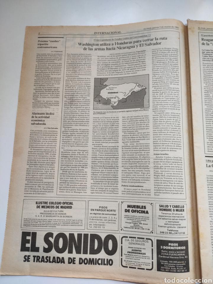 Coleccionismo de Periódico El País: Periódico El País 5 de marzo 1981. - Foto 2 - 270232303