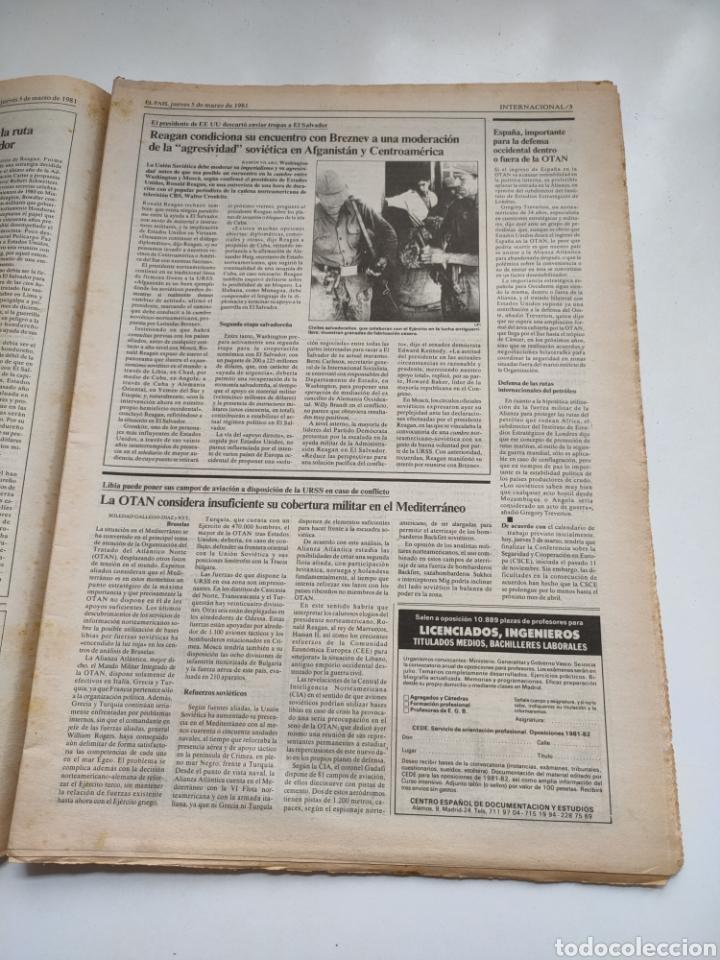 Coleccionismo de Periódico El País: Periódico El País 5 de marzo 1981. - Foto 3 - 270232303