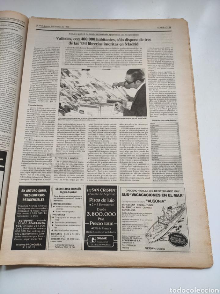 Coleccionismo de Periódico El País: Periódico El País 5 de marzo 1981. - Foto 4 - 270232303