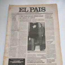 Coleccionismo de Periódico El País: PERIÓDICO EL PAÍS 5 DE MARZO 1981.. Lote 270232303