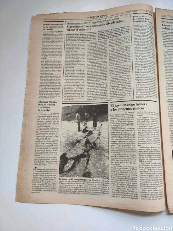 Coleccionismo de Periódico El País: Periódico El País 6 de marzo 1981 - Foto 2 - 270233068