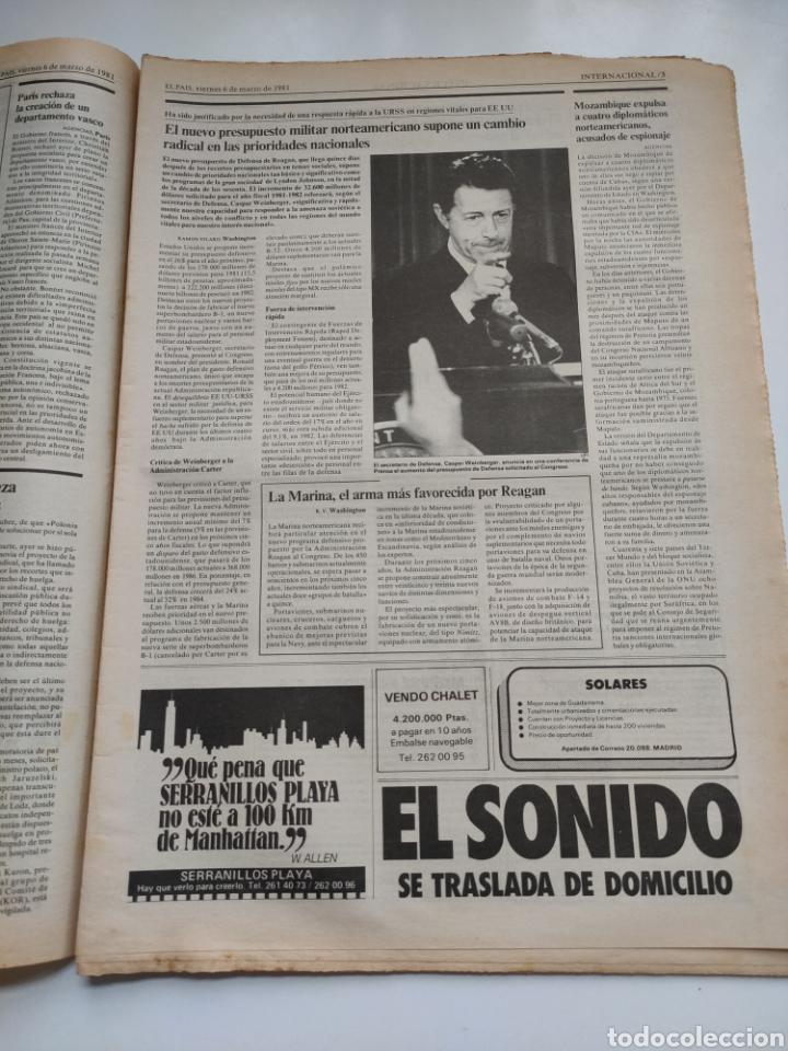 Coleccionismo de Periódico El País: Periódico El País 6 de marzo 1981 - Foto 3 - 270233068