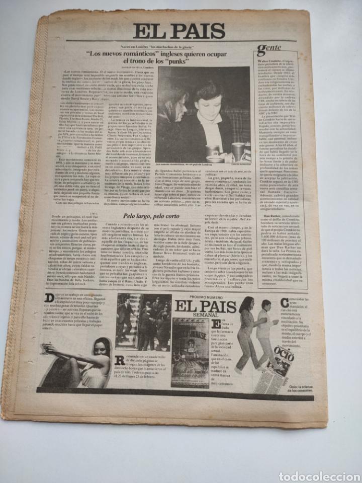 Coleccionismo de Periódico El País: Periódico El País 6 de marzo 1981 - Foto 6 - 270233068