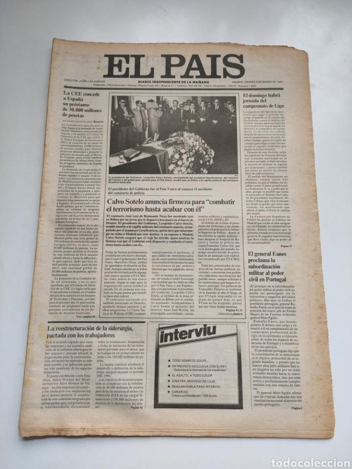 PERIÓDICO EL PAÍS 6 DE MARZO 1981 (Coleccionismo - Revistas y Periódicos Modernos (a partir de 1.940) - Periódico El Páis)
