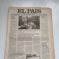 Coleccionismo de Periódico El País: PERIÓDICO EL PAÍS 6 DE MARZO 1981. Lote 270233068