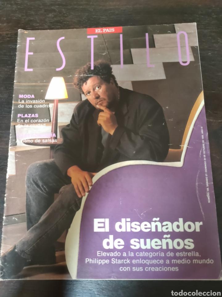 REVISTA EL PAÍS ESTILO. PHILIPPE STARCK. NÚMERO 109 DOMINGO 29 DE OCTUBRE DE 1990. (Coleccionismo - Revistas y Periódicos Modernos (a partir de 1.940) - Periódico El Páis)