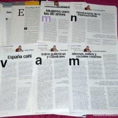 Collectionnisme de Journal El País: LOTE ARTÍCULOS ARTURO PÉREZ-REVERTE. PATENTE DE CORSO.. Lote 276777423