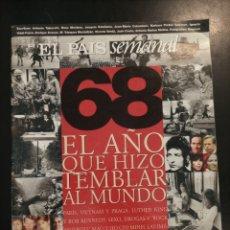 Coleccionismo de Periódico El País: EL PAÍS SEMANAL. 68 EL AÑO QUE HIZO TEMBLAR AL MUNDO. N°1127 DOMINGO 3 MAYO 98. PARIS VIETNAM PRAGA. Lote 278356263