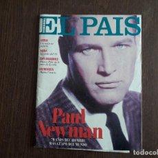 Collezionismo di Periódico El País: REVISTA SUPLEMENTO SEMANAL DE EL PAIS, NÚMERO 203, 8 DE ENERO 1995. PAUL NEWMAN, 70 AÑOS.. Lote 286373963