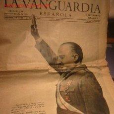 Coleccionismo Periódico La Vanguardia: DIARIO LA VANGUARDIA AÑO 1940 -JUEVES 18 DE JULIO DE 1940 - ARRIBA ESPAÑA!!!!!!!!!. Lote 17791035