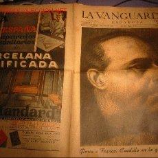 Coleccionismo Periódico La Vanguardia: DIARIO LA VANGUARDIA -31 DE MARZO DE 1940- GLORIA A FRANCO, CAUDILLO EN LA GUERRA Y EN LA PAZ. Lote 17791037