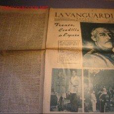 Coleccionismo Periódico La Vanguardia: DIARIO LA VANGUARDIA AÑO 1940 -MARTES 1 DE OCTUBRE DE 1940 - FRANCO, CAUDILLO DE ESPAÑA. Lote 17791036