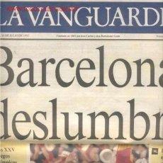 Coleccionismo Periódico La Vanguardia: SUPLEMENTO DE LA VANGUARDIA-JUEGOS OLIMPICOS BARCELONA 92. Lote 733677