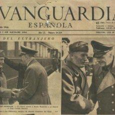 Coleccionismo Periódico La Vanguardia: PERIODICO.LA VANGUARDIA. 5-5-1944. ENTREVISTA ENTRE MUSSOLINI Y HITLER. LICOR CALISAY.. Lote 7050005