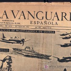 Coleccionismo Periódico La Vanguardia: 20 - SEPTIEMBRE-1942 ** LA VANGUARDIA ** NORTEAMERICA EN GUERRA ETC ETC . Lote 24850588
