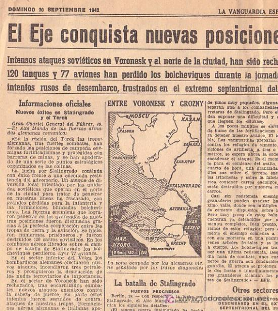Coleccionismo Periódico La Vanguardia: 20 - SEPTIEMBRE-1942 ** LA VANGUARDIA ** NORTEAMERICA EN GUERRA ETC ETC - Foto 2 - 24850588