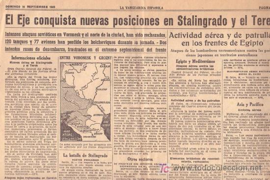 Coleccionismo Periódico La Vanguardia: 20 - SEPTIEMBRE-1942 ** LA VANGUARDIA ** NORTEAMERICA EN GUERRA ETC ETC - Foto 3 - 24850588