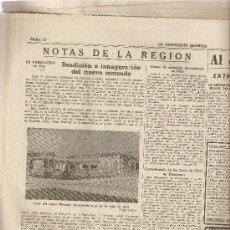 Coleccionismo Periódico La Vanguardia: AÑO 1954 CENTENARIO MUERTE SAN PEDRO CLAVER BISCUTER GABRIEL VOISIN OLOT INAUGURACION MERCADO DOMINO. Lote 9317636