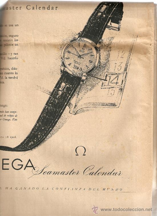 Coleccionismo Periódico La Vanguardia: AÑO 1954 PUBLICIDAD RELOJ OMEGA JABON JABONES JUPERINA BCNA VACACIONES FRANCO EN PAZO DE MEIRAS - Foto 3 - 9319795