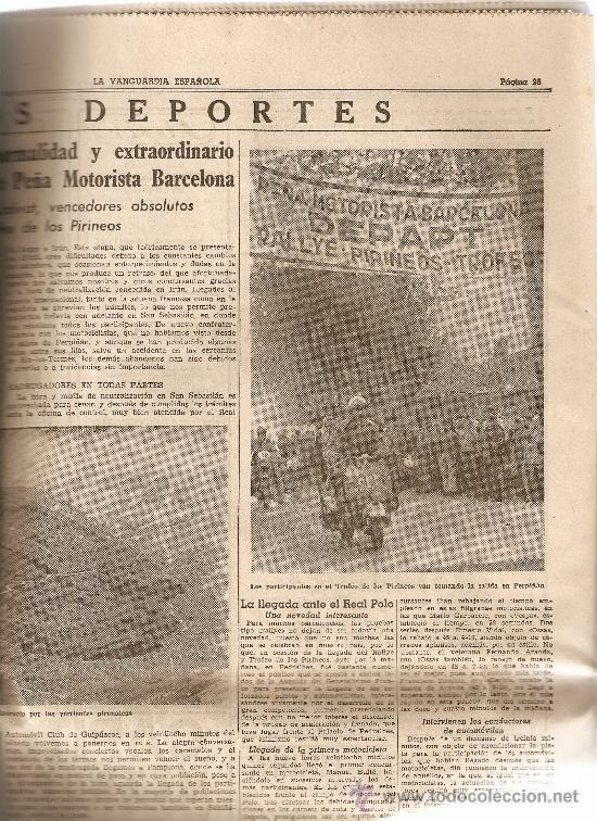 LA VANGUARDIA SEPTIEMBRE 1954.MUERTE DE EUGENIO D'ORS.LA MERCED.RALLY PIRINEOS. (Coleccionismo - Revistas y Periódicos Modernos (a partir de 1.940) - Periódico La Vanguardia)
