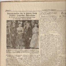 Coleccionismo Periódico La Vanguardia: LA VANGUARDIA MAYO 1955.INAGURACION CORTES.TARREGA.DUBLIN. LONDRES . BARCELONA .PUBLICIDAD.. Lote 9370144