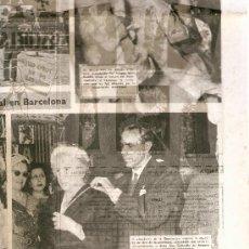 Coleccionismo Periódico La Vanguardia: AÑO 1954 FRANCO LA CORUÑA HOGARES MUNDET CICLISMO ATLETISMO PUBLICIDAD ACEITE MORO. Lote 9376982