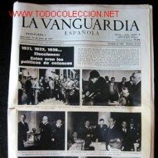 Coleccionismo Periódico La Vanguardia: LA VANGUARDIA - 15 DE JUNIO DE 1977. EDICIÓN DE LA VISPERA DE LAS ELECCIONES. Lote 18532341