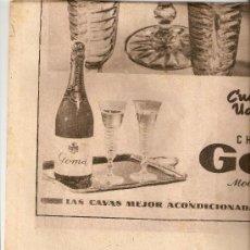 Coleccionismo Periódico La Vanguardia: LA VANGUARDIA 1951.MAYO.POLITICA INTERNACIONAL.HOJA PUBLICIDAD DE MYRURGIA.CHAMPAÑA GOMA.. Lote 10434082