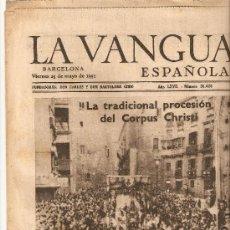 Coleccionismo Periódico La Vanguardia: LA VANGUARDIA 1951.CORPUS CHRISTI.BARCELONA.NIEVINA.. Lote 10471907