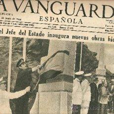 Coleccionismo Periódico La Vanguardia: LA VANGUARDIA 1954.JUNIO.PANTANOS.TOLEDO.FRANCO Y PLA Y DANIEL.. Lote 10576823
