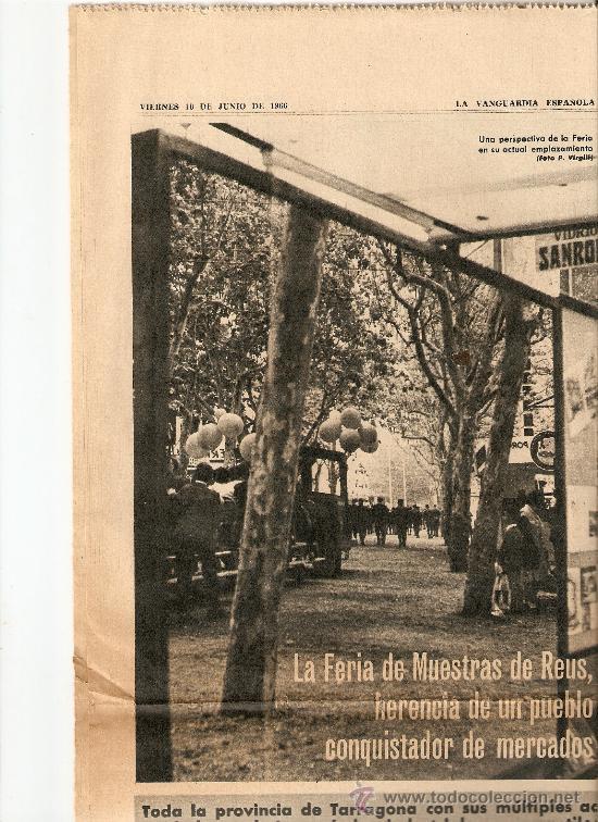 Coleccionismo Periódico La Vanguardia: AÑO 1966 FERIA MUESTRAS BARCELONA REUS GIRONA LLEIDA FIESTAS POPULARES PUIGCERDA VILAFRANCA PENEDES - Foto 2 - 10685594