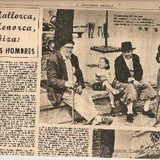 Coleccionismo Periódico La Vanguardia: 1966 BALEARES ECONOMIA TURISMO GENTES MENORCA CULTO AL DIOS TORO PUBLICIDAD LA LECHERA RELOJ OMEGA. Lote 10752907