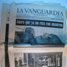 Collectionnisme Journal La Vanguardia: DIARIO LA VANGUARDIA 21-NOV-1975: MUERTE DE FRANCO. Lote 11342294