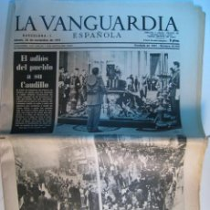Collectionnisme Journal La Vanguardia: DIARIO LA VANGUARDIA 22-NOV-1975: MUERTE DE FRANCO. Lote 11342300
