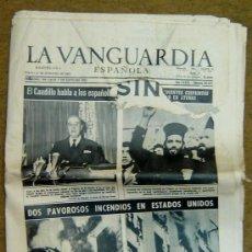 Coleccionismo Periódico La Vanguardia: LA VANGUARDIA ESPAÑOLA-MARTES, 31 DICIEMBRE 1963-AÑO LXXIX-NUM. 30.347-EL CAUDILLO HABLA A LOS ESPAÑ. Lote 14018970