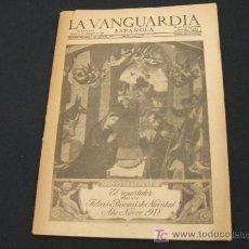 Coleccionismo Periódico La Vanguardia: LA VANGUARDIA ESPAÑOLA TAMAÑO REDUCIDO - 25 DICIEMBRE 1947 - PORTADA CON FELICITACION DE NAVIDAD - . Lote 26803170