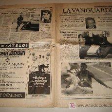 Coleccionismo Periódico La Vanguardia: LA VANGUARDIA Nº 38.289 AÑO 1988 - CON ANUNCIO DEL CONCIERTO DE MICHAEL JACKSON EN BARCELONA. Lote 17428239