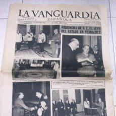 Coleccionismo Periódico La Vanguardia: DIARIO LA VANGUARDIA ESPAÑOLA. 24 DE OCTUBRE 1957 / AUDIENCIAS DE FRANCO EN PEDRALBES. Lote 26525362
