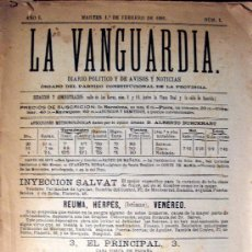 Coleccionismo Periódico La Vanguardia: LA VANGUARDIA. NÚM. 1. FACSÍMIL. 1981. Lote 27105691