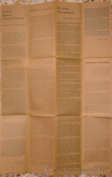 Coleccionismo Periódico La Vanguardia: Revista Pliegos de Producción Artística. cine club saracosta - Zaragoza 1974 - Foto 4 - 25124361