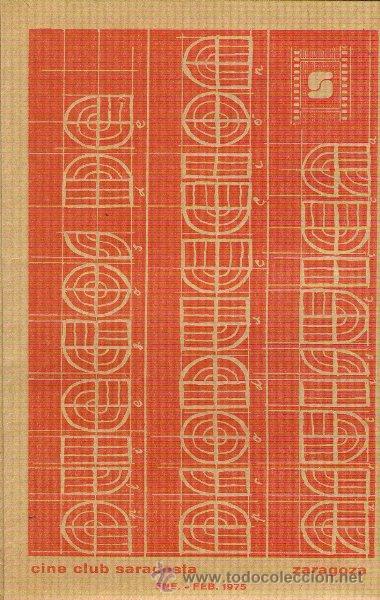 REVISTA PLIEGOS DE PRODUCCIÓN ARTÍSTICA. CINE CLUB SARACOSTA - ZARAGOZA ENERO-FEBRERO 1975 (Coleccionismo - Revistas y Periódicos Modernos (a partir de 1.940) - Periódico La Vanguardia)