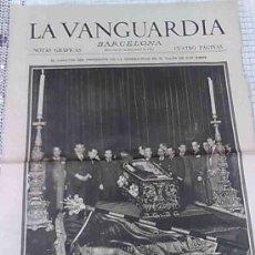 Coleccionismo Periódico La Vanguardia: EL CADAVER DEL PRESIDENTE DE LA GENERALIDAD... [ F. MACIA ]. LA VANGUARDIA 27 DICIEMBRE 1933. 4 PAG.. Lote 26599068