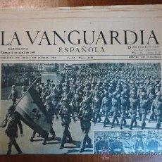 Colecionismo Jornal La Vanguardia: LOTE DE 14 PORTADAS DE LA VANGUARDIA, DE ABRIL DE 1943.. Lote 27494557