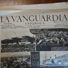 Coleccionismo Periódico La Vanguardia: LOTE DE 17 PORTADAS DE LA VANGUARDIA, DE JULIO DE 1943.. Lote 27494753
