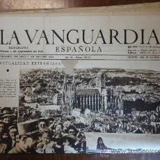 Coleccionismo Periódico La Vanguardia: LOTE DE 20 PORTADAS DE LA VANGUARDIA, DE SEPTIEMBRE DE 1944.. Lote 27498580