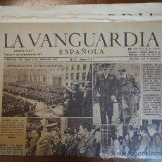 Coleccionismo Periódico La Vanguardia: LOTE DE 18 PORTADAS DE LA VANGUARDIA, DE DICIEMBRE DE 1944.. Lote 27498711